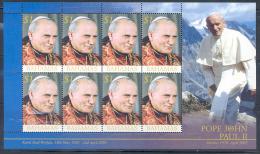 BAHAMAS - Hommage Au Pape J.Paul II  - Feuillet 8 Val Neuf - MNH Sheetlet - Papes