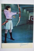 Old Postcard Emma Gapchenko  - USSR ARCHERY CHAMPION -  1972 - Tir à L'Arc