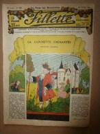 """1932  """"FILLETTE""""  Belles Histoires à Suivre Et Aussi Ponctuelles..comme Celle-ci ---> LE LOUP ET L'AGNEAU (personnifié) - Fillette"""