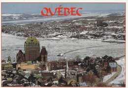 Winter Scene - In The Background: City Of Levis.     Quebec    Canada   # 03331 - Levis