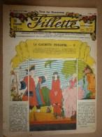 """1932  """"FILLETTE"""" Histoires à Suivre Et Aussi Ponctuelles Véridique : UNE EVASION D'UN CONDAMNE A MORT SOUS LA REVOLUTION - Fillette"""