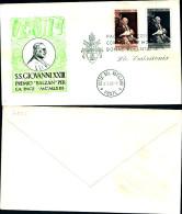 791)F.D.C.città Del Vaticano Premio Balzan Per La Pace.S.S. GIOVANNI XXIII Racc.2valori 15+160 - FDC