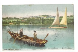 9498 -  Sur Le Léman Avant La Pêche Barque - VD Vaud