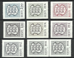 ESTLAND Estonia Estonie 1992 Lot Wappen Coat Of Arms Rollenmarken Coil Stamps MNH - Estonia