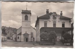 BUSSANG 88 - L'Eglise Et La Mairie ...  CPSM Dentelée PF Noir Blanc ? - Vosges - France