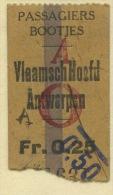 BILLETE DE GAVINAS (MOUETTES) DE ANVERS // 1929 // (REF 262) - Boat Ticket