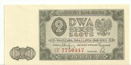 Poland 2 Zlotych 1948 P134 UNC (98/100) - Polonia