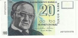 Finland 20 Markkaa 1993 P122 UNC - Finland