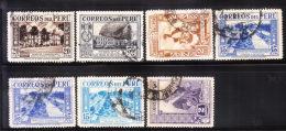 Peru 1936-37 Scenery 7v Used - Peru