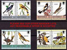 MONTSERRAT 1985 AUDUBON BIRDS MNH - Montserrat