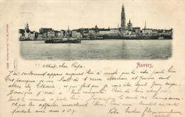 BELGIQUE - ANVERS - ANTWERPEN - (Panorama - Escaut - Cathédrale Notre-Dame) Postée En 1899. - Antwerpen