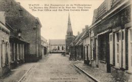 BELGIQUE - FLANDRE OCCIDENTALE - POPERINGE - WATOU - Het Poskantoor en de Vijfhoeksraat - Le Bureau des Postes et la ...