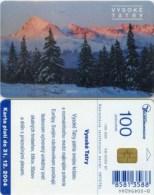 Telefonkarte Slowakei - Vysoke Tatry  -  Aufl. 100000 - 09/2002 - Slowakei