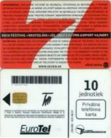 Telefonkarte Slowakei - Rockfestival - Bratislava  -  1998 - Airport Vajnory - Aufl. 100000 - 01P/98 - Slowakei