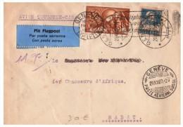 LETTRE SUISSE 1927, GENEVE POSTE AERIENNE, PAR AVION TOULOUSE-CASA POUR LE MAROC /4998 - Schweiz