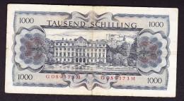 AUTRICHE, WPM 147, 1.07.1966, 1000 Sh, TYPE BERTHA VAN SUTTNER. (4B5) - Autriche