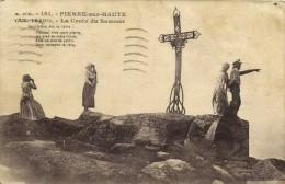 PIERRE Sur HAUTE  (Alt 1640m) La Croix Du Sommet Animée Recto Verso - France