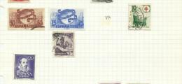 Espagne N°795, 796, 798, 800, 801 Cote 8.20 Euros - 1931-Oggi: 2. Rep. - ... Juan Carlos I