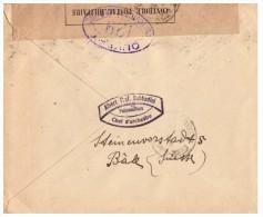 LETTRE SUISSE 1919, ALBERT SABBADINI CHEF D ORCHESTRE, BASEL - NICE, CENSURE MILITAIRE /256 - Schweiz