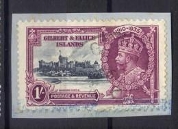W612 - GILBERT ELLICE 1935 , 1 Sh. Yvert N. 34 Usato . Giubileo - Îles Gilbert Et Ellice (...-1979)