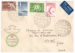 LETTRE FINLANDE 1952, PAR AVION OLYMPIA HELSINKI Pour La FRANCE /4180 - Covers & Documents