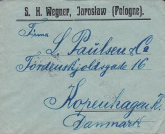 Poland S. H. WEGNER, JAROSLAW (Pologne) 1926 Cover To Denmark Vawel-Schloss Pair Paare Stamp (2 Scans) - 1919-1939 République