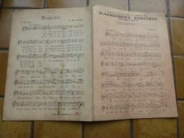 Vlaanderen´s Kunstdag : Liederen Uit Te Voeren Door Het Vlaamsche Volk /16 Juli 1911 Met Oa STRIJDKREET Van Peter Benoit - Partitions Musicales Anciennes