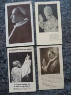 Lot Van 4 Prentjes Paus Pius XXII - Pape - 1940 - 1942 - Lot 227 - Images Religieuses