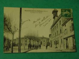 RHONE-SAINT ANDEOL LE CHATEAU-LA PLACE ET LA MAIRIE-ANIMEE - France