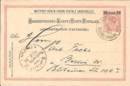 A-L008/ Mi.Nr. P 10, Smyrna  Nach Berlin 1892, 20 Para Auf 5 Kr. - Levante-Marken