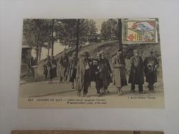 Guerre De 1914 - Soldats Blessés Regagnant L'arrière - Guerra 1914-18