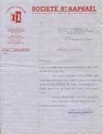 SAINT RAPHAEL QUINQUINA SOCIETE PARIS COURRIER  1938 PUBLICITE ALCOOL APPERITIF - Publicités