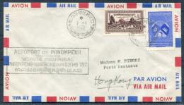 1961 Voyage Inaugural Phnompenh - Hong Kong Par BOEING 707 / Cambodia 1st Flight R.A.C. - Cambodia