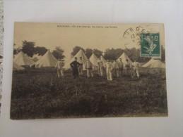 Bourges - 37c D'Artillerie - Au Camp Les Tentes - Maniobras