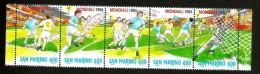 SAN MARINO  Calcio Football Striscia  Nuovo ** MNH - World Cup