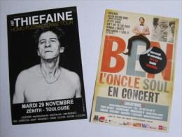 Flyer : H.F. Thiefaine, Homo Plebis Ultimae Tour, Zénith, Toulouse / Verso : Ben, L' Oncle Soul En Concert - Music And Musicians