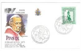FILATELIA - VATICAN CITY - FDC IUBILAEUM A.D. 2000 - GIUBILEO ANNO 2000 - PIUS IX - COVER NUMBER PV/27 - FDC
