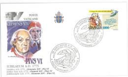 FILATELIA - VATICAN CITY - FDC IUBILAEUM A.D. 2000 - GIUBILEO ANNO 2000 - PIUS VI - COVER NUMBER PV/25 - FDC