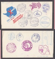 USSR: Letter Form With Many Philatelic Cachets, Not Sealed Or  Posted - Stamps