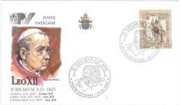 FILATELIA - VATICAN CITY - FDC IUBILAEUM A.D. 2000 - GIUBILEO ANNO 2000 - LEO XII - COVER NUMBER PV/26 - FDC