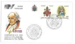 FILATELIA - VATICAN CITY - FDC IUBILAEUM A.D. 2000 - GIUBILEO ANNO 2000 - LEO XIII - COVER NUMBER PV/29 - FDC