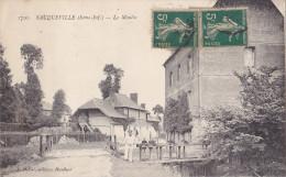 SAUQUEVILLE EN SEINE MARITIME LE MOULIN  CPA CIRCULEE ANIMEE - France