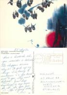 UNICEF Birds Painting Postcard Used Posted To UK 1986 Meter SAUDI ARABIA - Saudi Arabia
