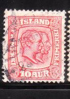 Iceland 1915-18 King Christian IX & Frederik VIII 10a Used - Oblitérés
