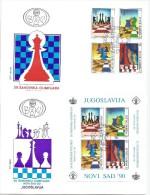 Yugoslavia 1990. FDC (2)  29th Chess Olympiad Novi Sad `90. - FDC