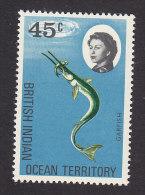 British Indian Ocean Territory, Scott #23, Mint Hinged, Marine Fauna, Issued 1968 - Territoire Britannique De L'Océan Indien