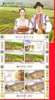 Moldova, 2 Mini Sheetlets + Booklet Pane, Europe / Europa CEPT - Places To Visit, 2012 - Europa-CEPT