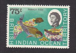 British Indian Ocean Territory, Scott #26, Mint Hinged, Marine Fauna, Issued 1968 - Territoire Britannique De L'Océan Indien