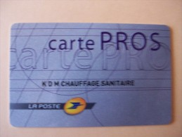 CARTE PROS - LA POSTE - Fehldrucke