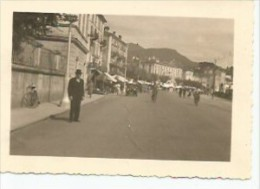 Verbano-Cusio-Ossola  Verbania INTRA STRADA LAGO MAGGIORE  FOTOGRAFIA  PEQUEÑA POSTAL  CIRCA 1930  OHL - Italy